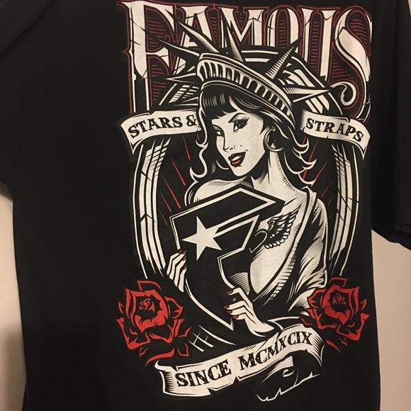 famous stars straps shirts famous stars straps 2xl lady liberty